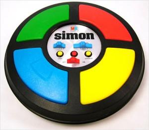 Milton Bradley's Simon Says game.